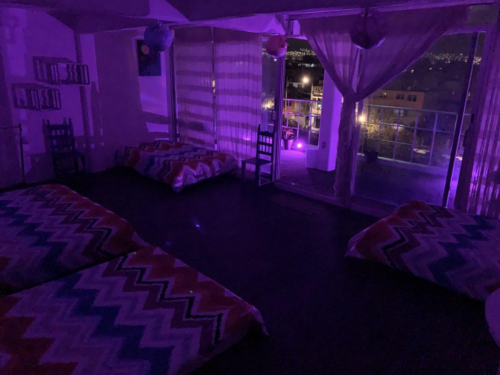 habitación grupal posada aurorita